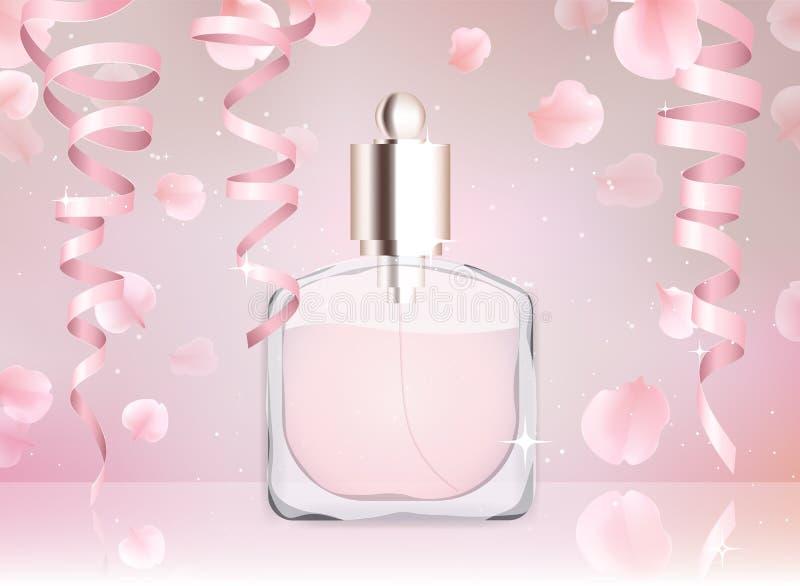 Ejemplo del vector de la botella de perfume del agua de retrete libre illustration