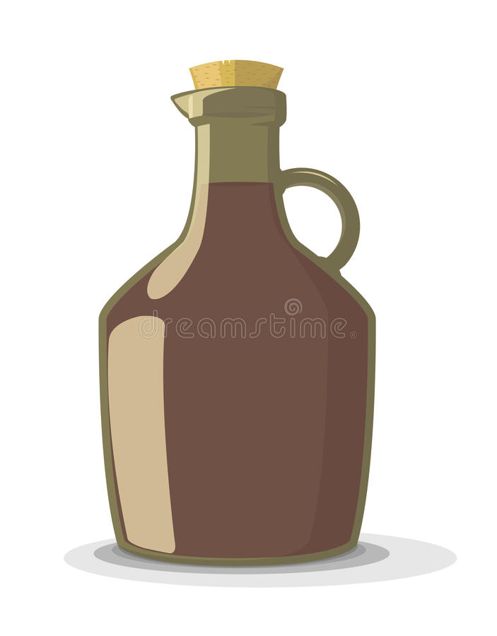 Ejemplo del vector de la botella de vino stock de ilustración