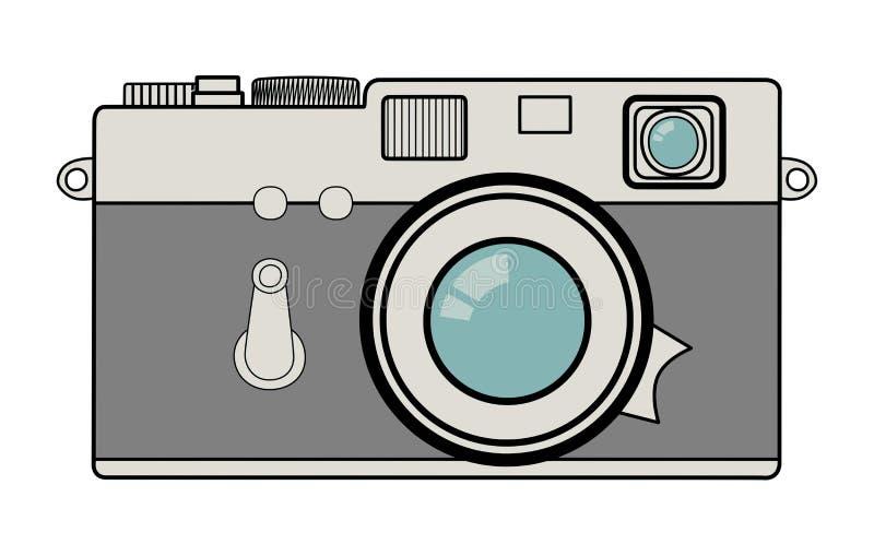 Ejemplo del vector de la cámara del vintage stock de ilustración