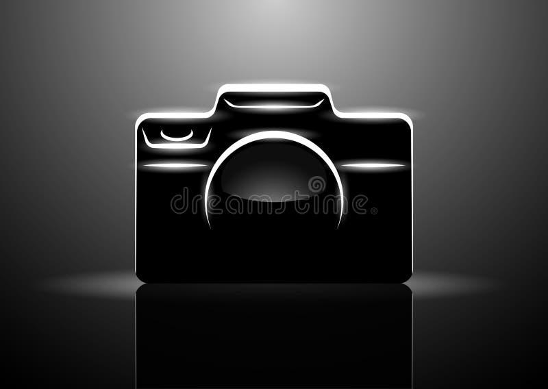 Ejemplo del vector de la cámara digital profesional libre illustration