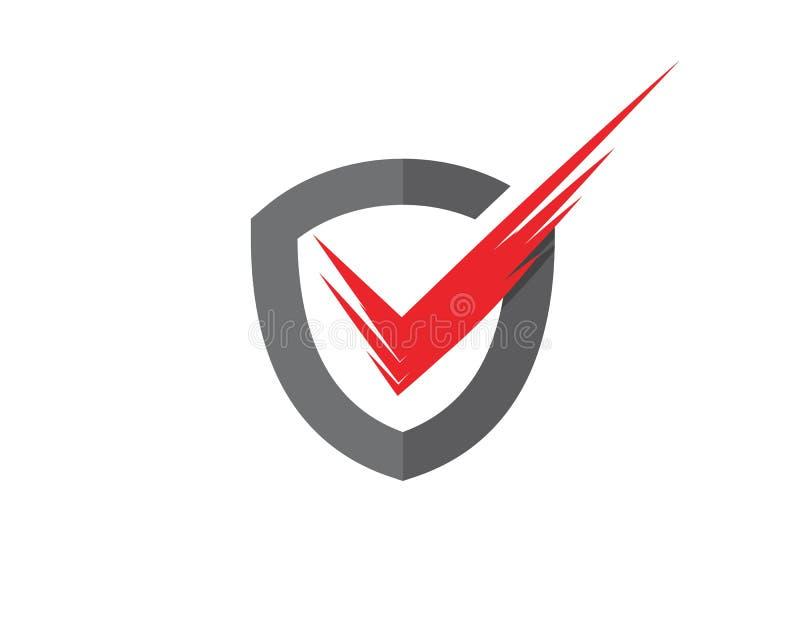 ejemplo del vector de la calidad del escudo stock de ilustración