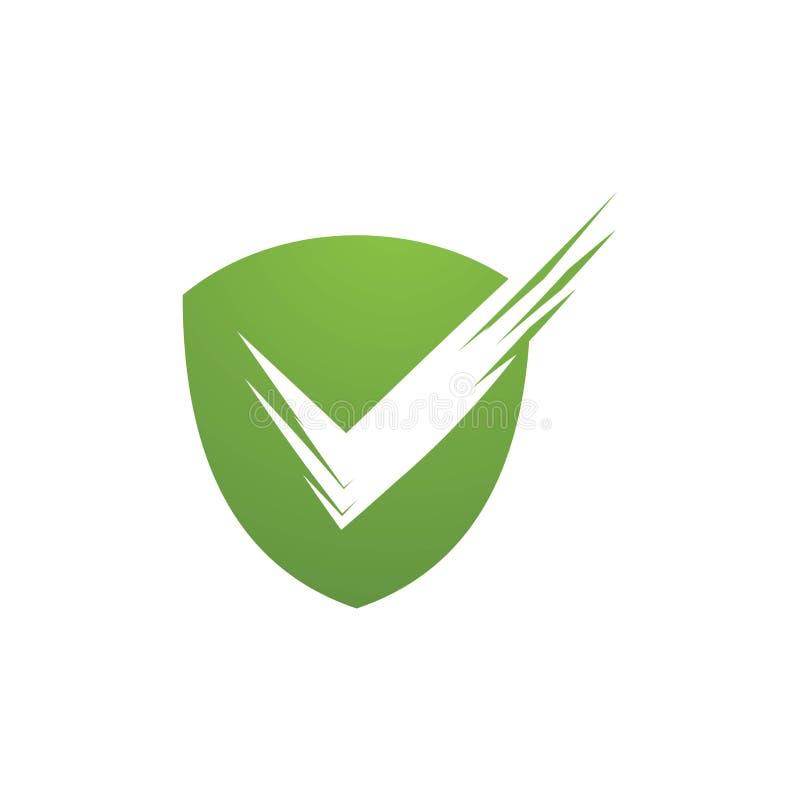 ejemplo del vector de la calidad del escudo ilustración del vector