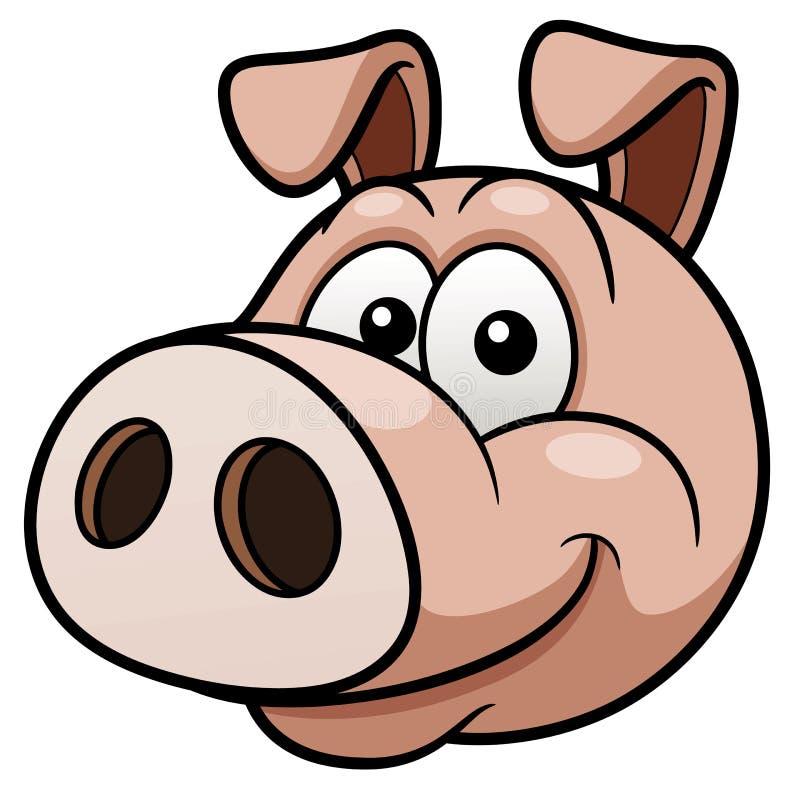 Cara del cerdo ilustración del vector. Ilustración de feliz - 29889472