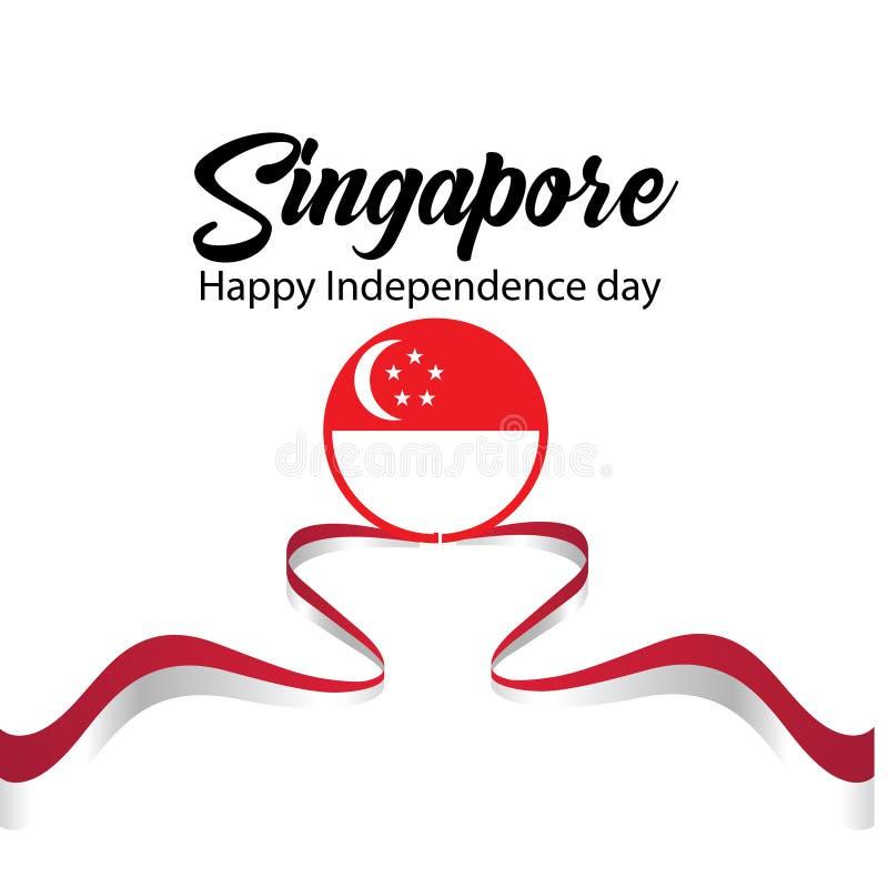 Ejemplo del vector de la celebraci?n del D?a de la Independencia de Singapur libre illustration