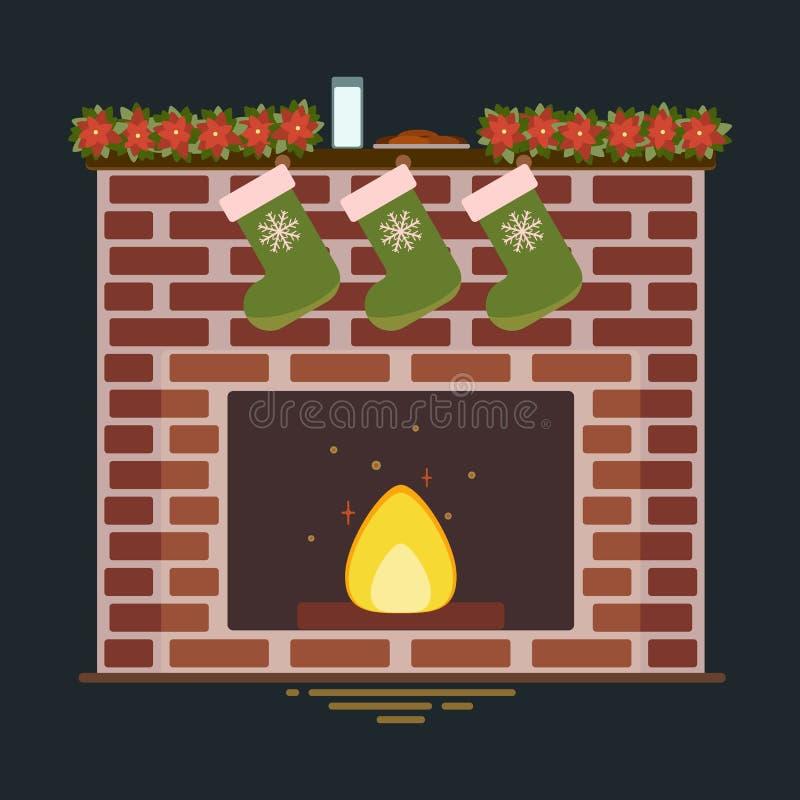 Ejemplo del vector de la chimenea libre illustration