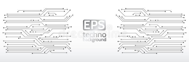 Ejemplo del vector de la ciencia Estilo moderno digital del concepto del extracto stock de ilustración