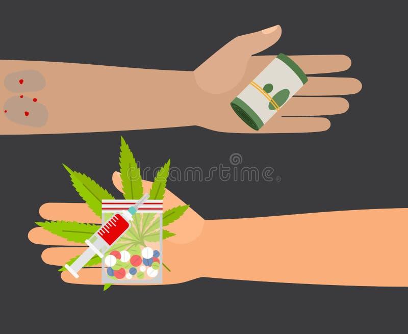 Ejemplo del vector de la compra de las drogas stock de ilustración