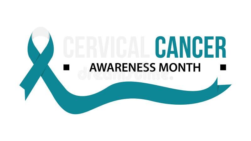 Ejemplo del vector de la conciencia del cáncer de cuello del útero libre illustration