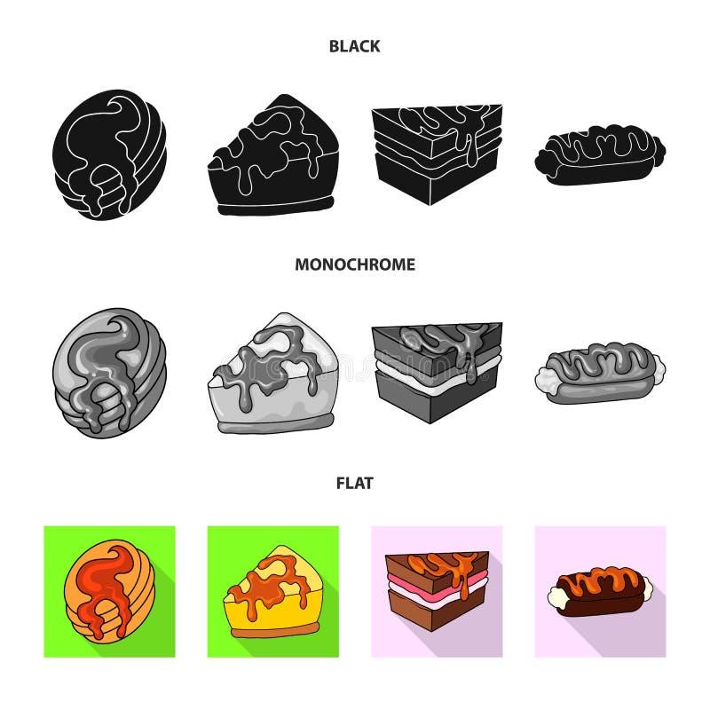 Ejemplo del vector de la confitería y del icono culinario Colección de vector de la acción de la confitería y del producto libre illustration