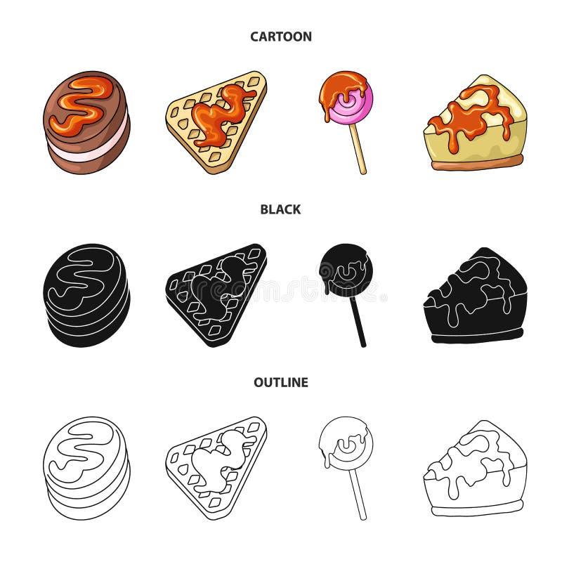 Ejemplo del vector de la confitería y del logotipo culinario Fije del icono del vector de la confitería y del producto para la ac ilustración del vector
