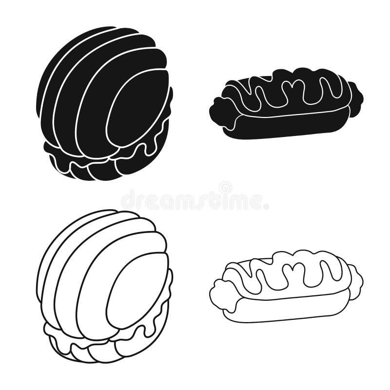 Ejemplo del vector de la confitería y de la muestra culinaria Colección de símbolo común de la confitería y del producto para la  libre illustration