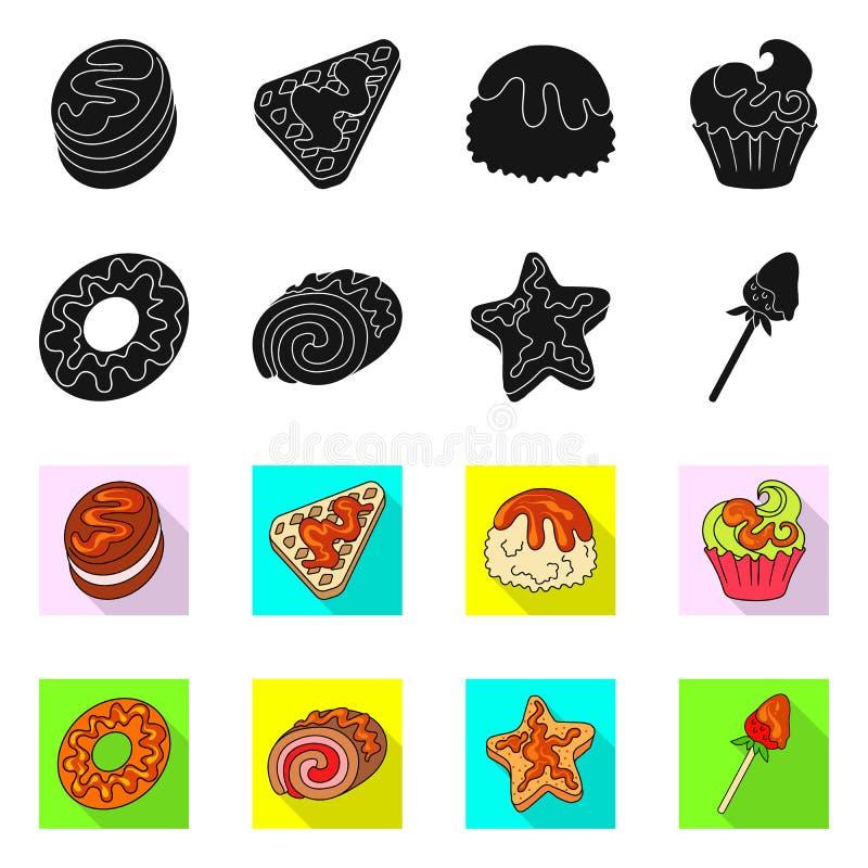 Ejemplo del vector de la confitería y del símbolo culinario Colección de icono del vector de la confitería y del producto para la ilustración del vector