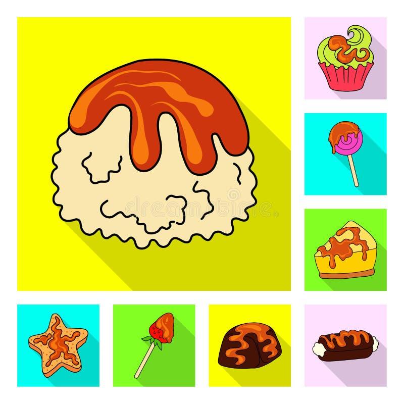 Ejemplo del vector de la confitería y del símbolo culinario Fije de la confitería y del icono colorido del vector para la acción libre illustration