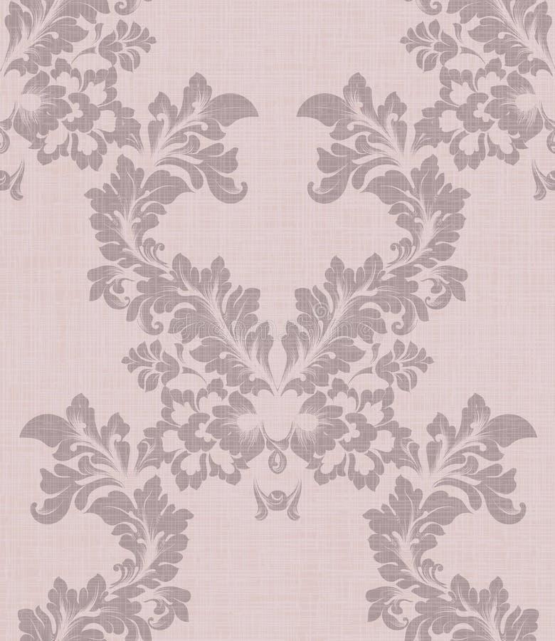 Ejemplo del vector de la decoración de la antigüedad del modelo del damasco Diseños de la textura libre illustration