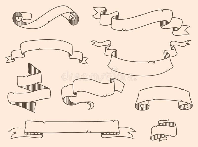 Ejemplo del vector de la decoración que ahoga el sistema de la cinta libre illustration