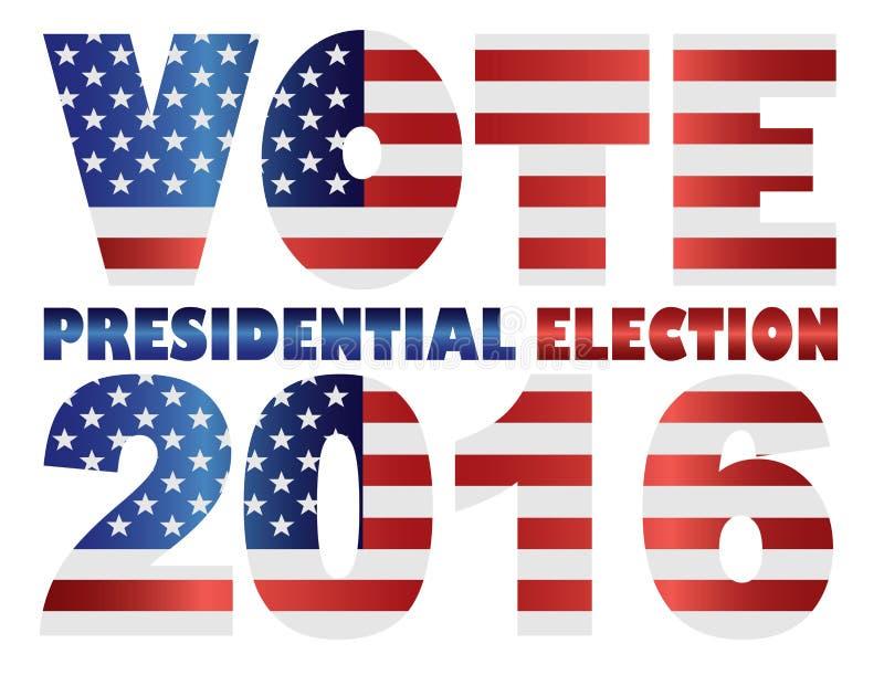 Ejemplo del vector de la elección presidencial de los E.E.U.U. del voto 2016 ilustración del vector
