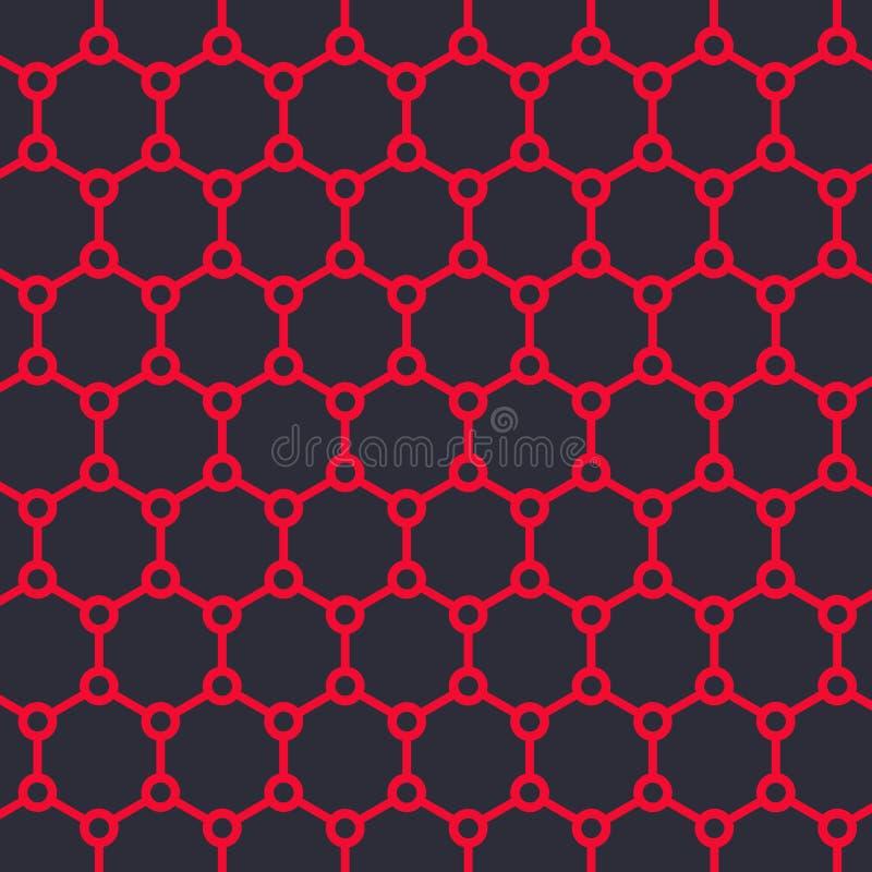 Ejemplo del vector de la estructura de Graphene stock de ilustración
