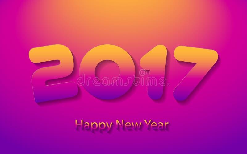 Ejemplo del vector de la Feliz Año Nuevo 2017 stock de ilustración