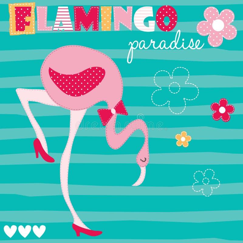 Ejemplo del vector de la flor de flamenco stock de ilustración
