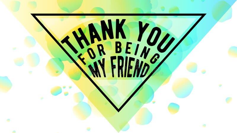 Ejemplo del vector de la forma feliz del sobre del diseño del triángulo de la tipografía del día de la amistad aislada en el fond ilustración del vector