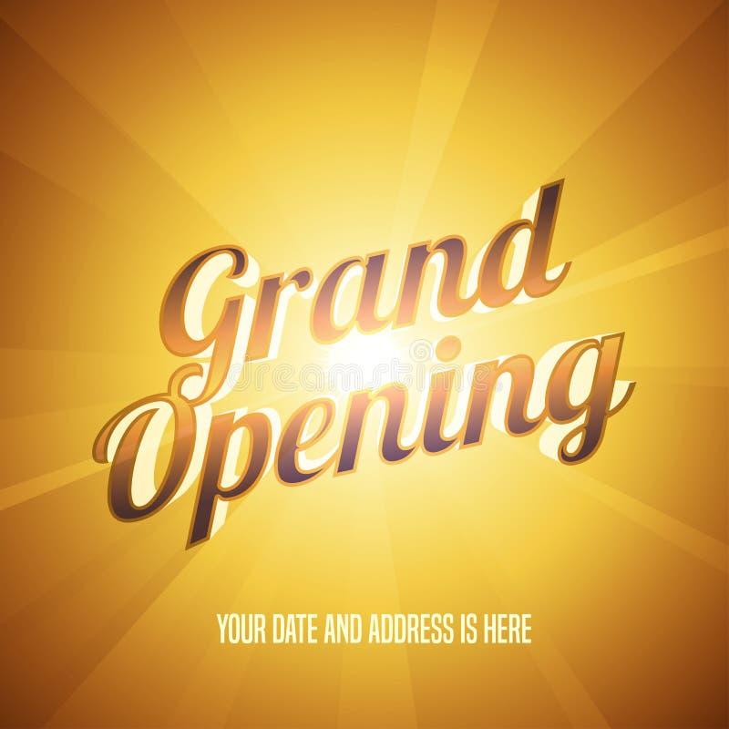 Ejemplo del vector de la gran inauguración, fondo libre illustration
