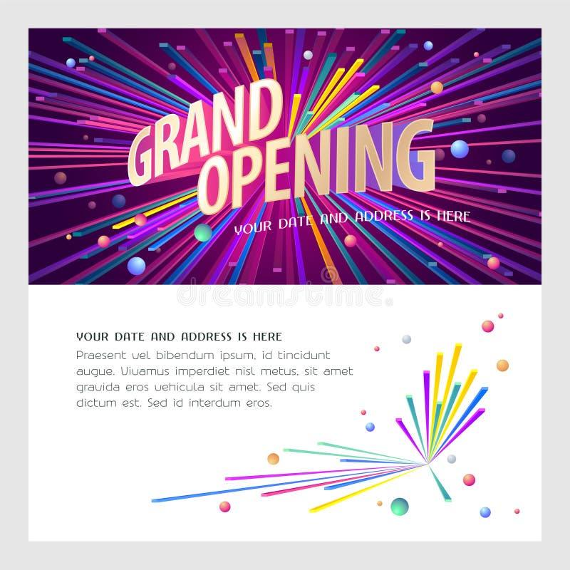 Ejemplo del vector de la gran inauguración, invitación libre illustration