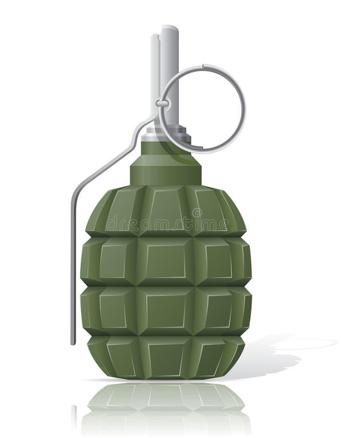 Ejemplo del vector de la granada de mano stock de ilustración