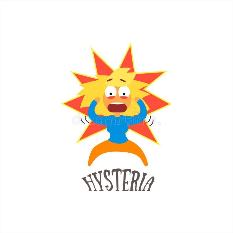 Ejemplo del vector de la histeria libre illustration