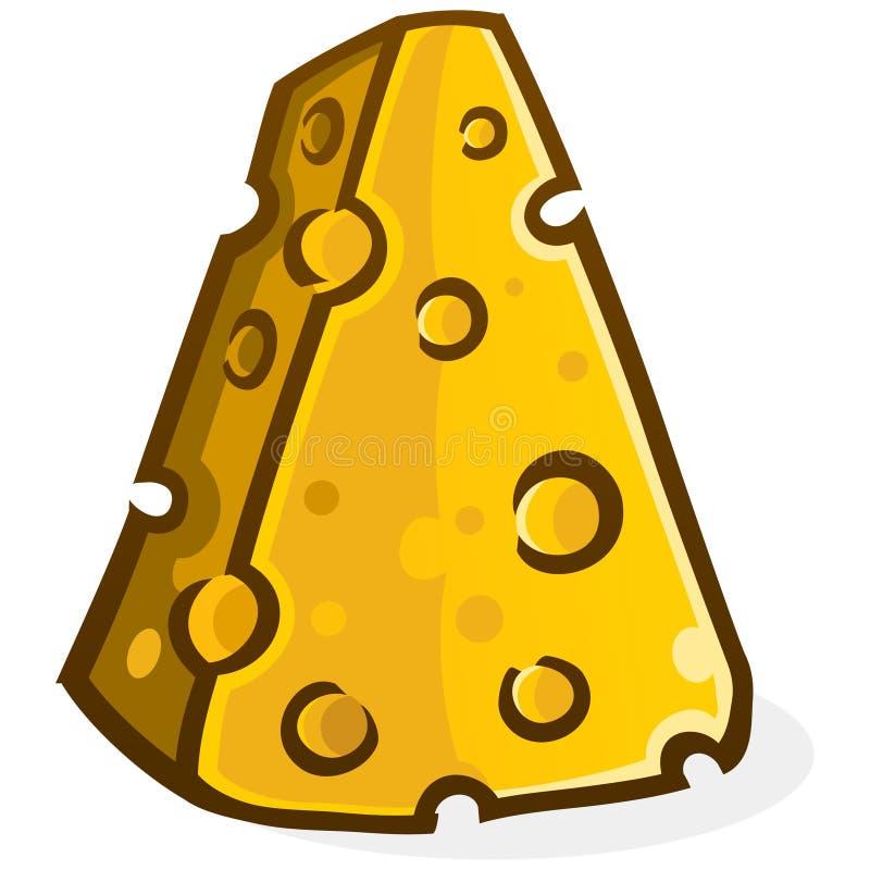 Ejemplo del vector de la historieta del bloque del queso stock de ilustración