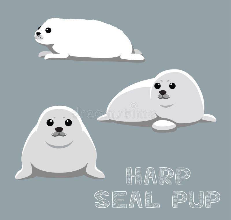Ejemplo del vector de la historieta del perrito de foca de Groenlandia stock de ilustración