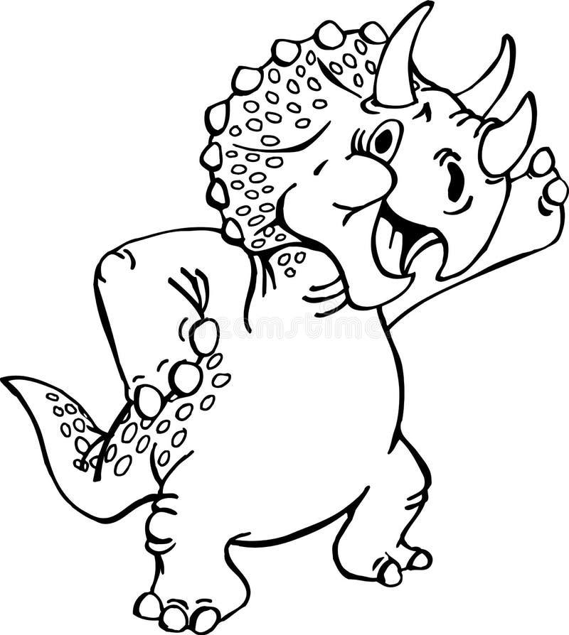 Ejemplo del vector de la historieta del dinosaurio stock de ilustración