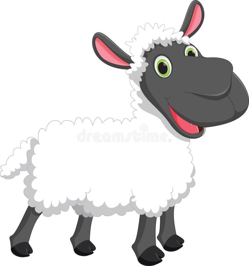 Ejemplo del vector de la historieta linda de las ovejas libre illustration
