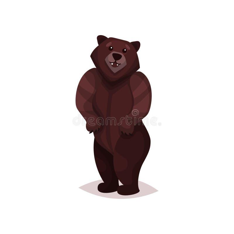 Ejemplo del vector de la historieta del oso grizzly de Brown stock de ilustración