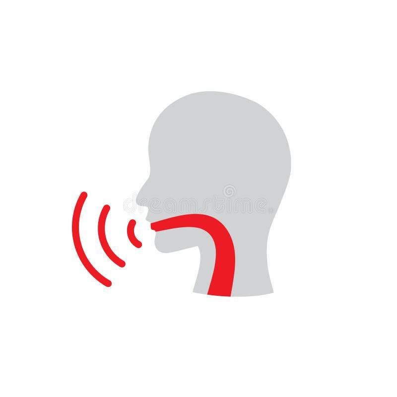 Ejemplo del vector de la imagen de la persona del icono w del cordón vocal stock de ilustración