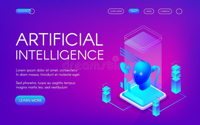 Ejemplo del vector de la inteligencia artificial libre illustration