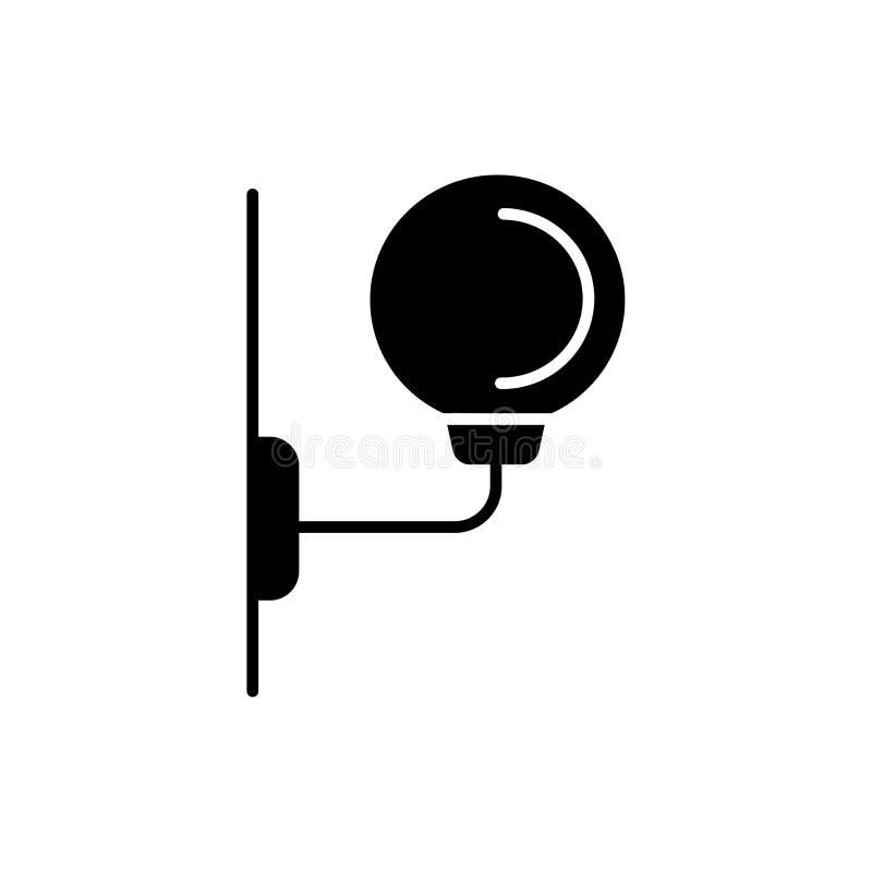 Ejemplo del vector de la lámpara de pared moderna Icono plano del upli del globo ilustración del vector