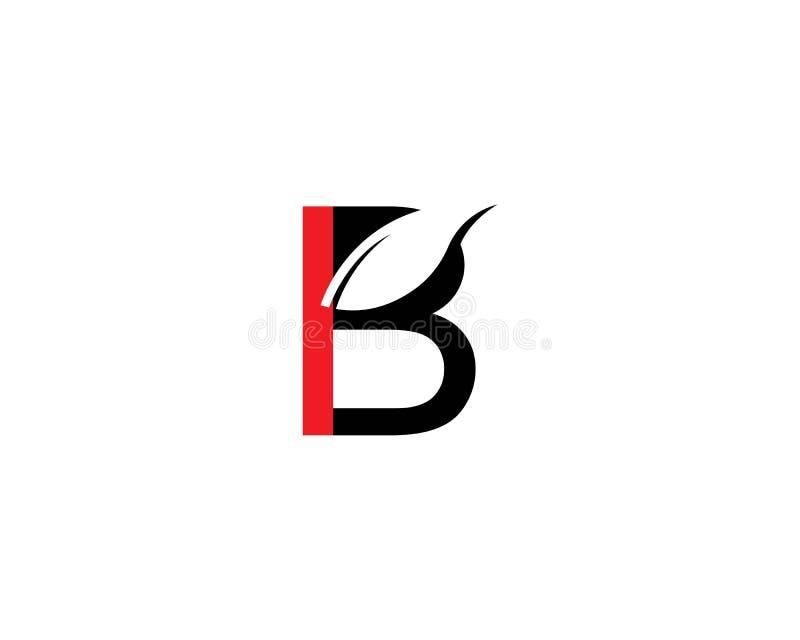 Ejemplo del vector de la letra de B ilustración del vector