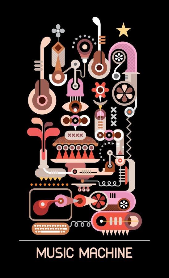 Ejemplo del vector de la máquina de la música ilustración del vector