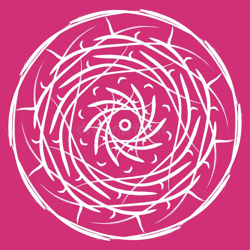 Ejemplo del vector de la mandala Modelo oriental floral del extracto redondo, elementos decorativos del vintage stock de ilustración
