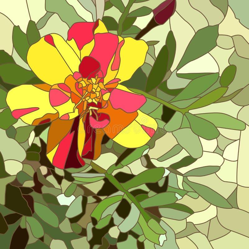 Download Ejemplo Del Vector De La Maravilla Del Rojo De La Flor Ilustración del Vector - Ilustración de stylization, ventana: 41901195