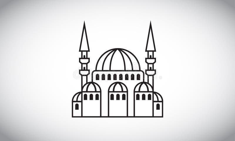 Ejemplo del vector de la mezquita imágenes de archivo libres de regalías