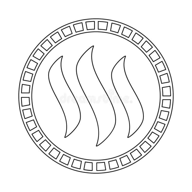 Ejemplo del vector de la moneda y del logotipo mordido Fije del icono del vector de la moneda y del btc para la acción stock de ilustración
