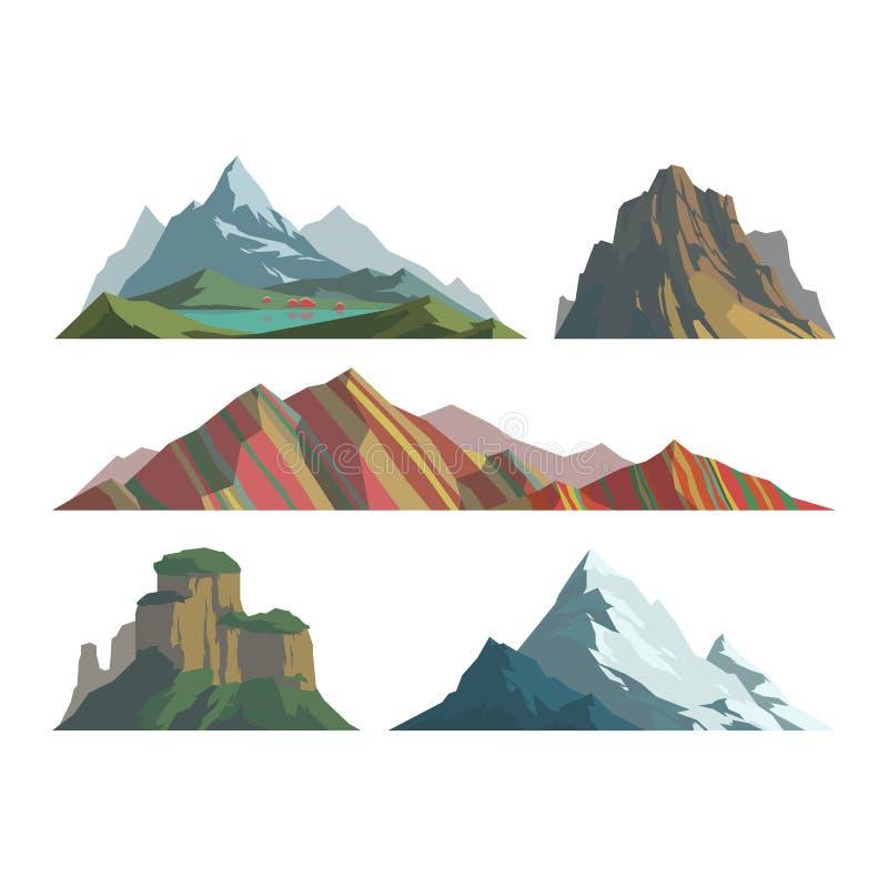 Ejemplo del vector de la montaña ilustración del vector