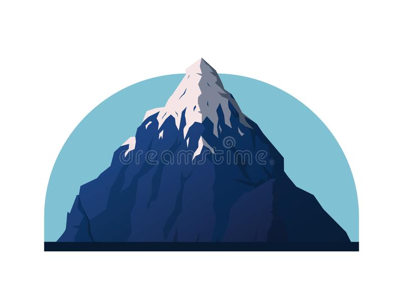 Ejemplo del vector de la monta?a ilustración del vector