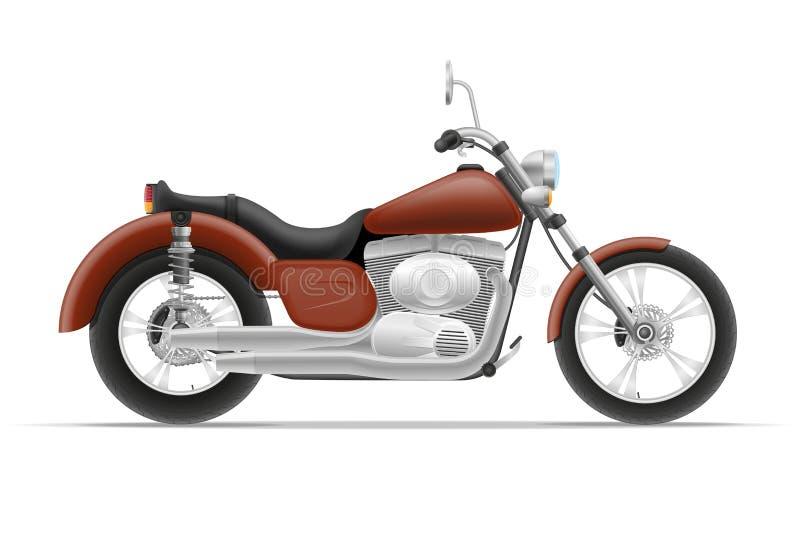 Ejemplo del vector de la motocicleta stock de ilustración