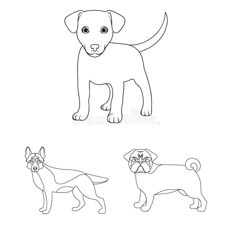 Ejemplo del vector de la muestra del animal y del hábitat Fije del ejemplo del vector de la acción del animal y de granja stock de ilustración