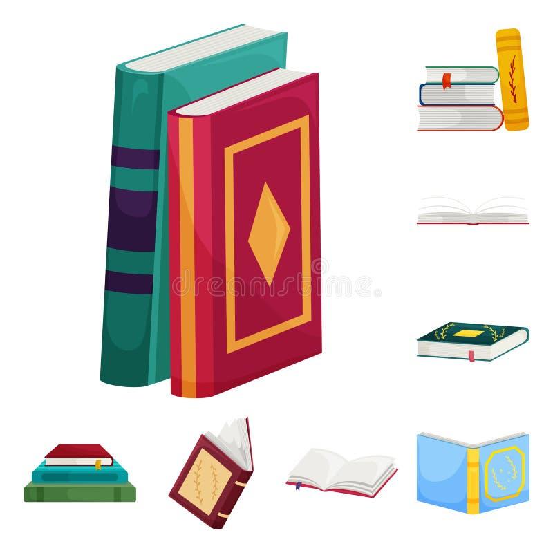 Ejemplo del vector de la muestra de la biblioteca y de la librer?a Fije del icono del vector de la biblioteca y de la literatura  libre illustration