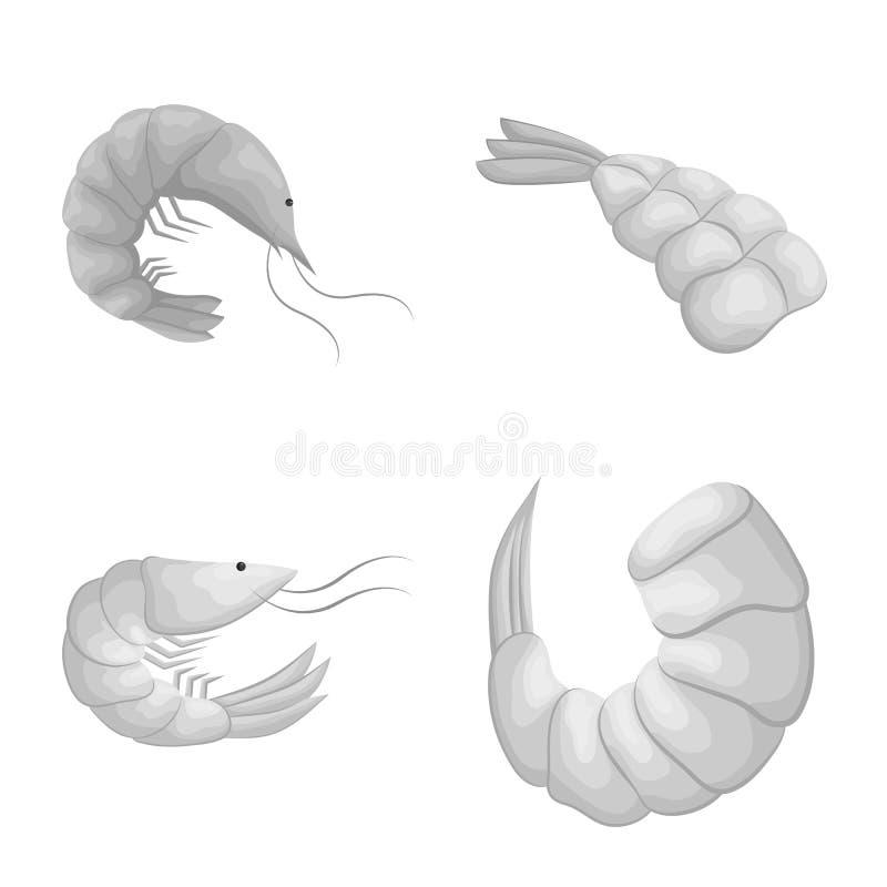 Ejemplo del vector de la muestra del cangrejo y del aperitivo Fije del s?mbolo com?n del cangrejo y del mar para la web stock de ilustración