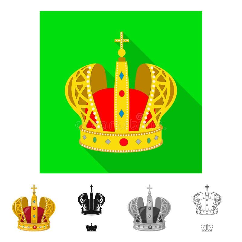 Ejemplo del vector de la muestra medieval y de la nobleza Colecci?n de ejemplo com?n medieval y de la monarqu?a del vector stock de ilustración