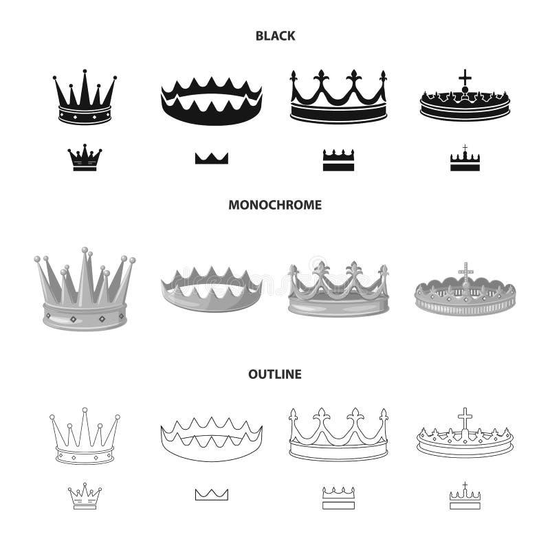 Ejemplo del vector de la muestra medieval y de la nobleza Colecci?n de ejemplo com?n medieval y de la monarqu?a del vector ilustración del vector